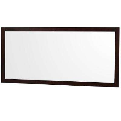 Sheffield 70 in. W x 33 in. H Framed Wall Mirror in Espresso