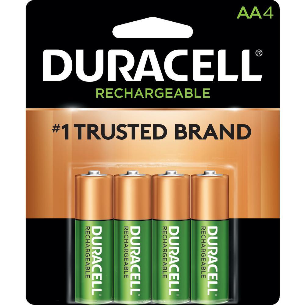Rechargeable Alkaline Batteries >> Duracell Coppertop Rechargeable Aa Alkaline Battery 4 Pack
