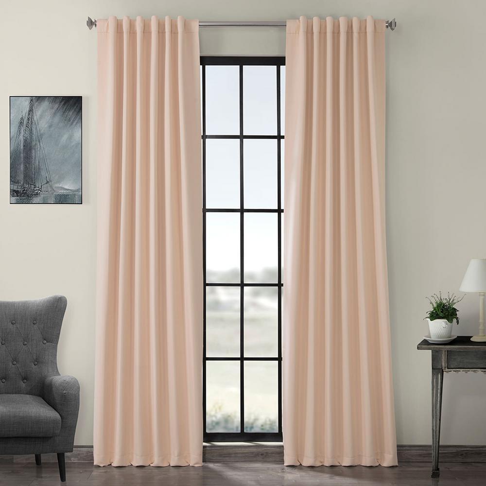 Bellini Peach Pink Blackout Curtain - 50 in. W x 84 in. L
