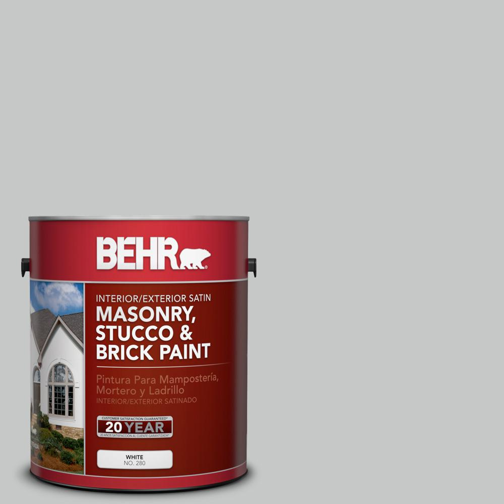 1 gal. #BNC-07 Frosted Silver Satin Interior/Exterior Masonry, Stucco and Brick