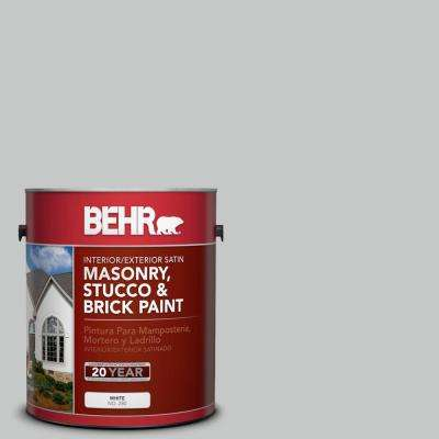 1 gal. #BNC-07 Frosted Silver Satin Interior/Exterior Masonry, Stucco and Brick Paint