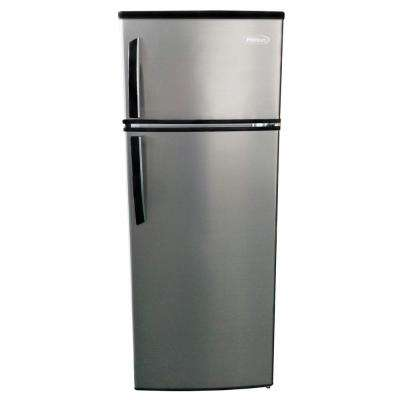 7.4 cu. ft. Top Freezer Refrigerator in Silver, Counter Depth