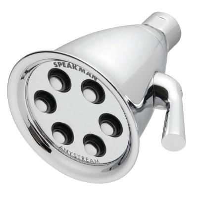 3-Spray 4.2 in. Single Wall Mount Low Flow Fixed Adjustable Shower Head in Polished Chrome