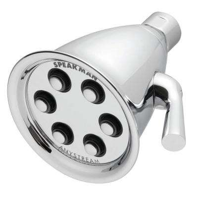 Anystream Icon 3-Spray 4.1 in. Fixed Shower Head in Polished Chrome