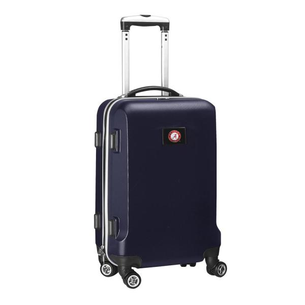 Denco NCAA Alabama Navy 21 in. Carry-On Hardcase Spinner Suitcase CLALL204_NAVY