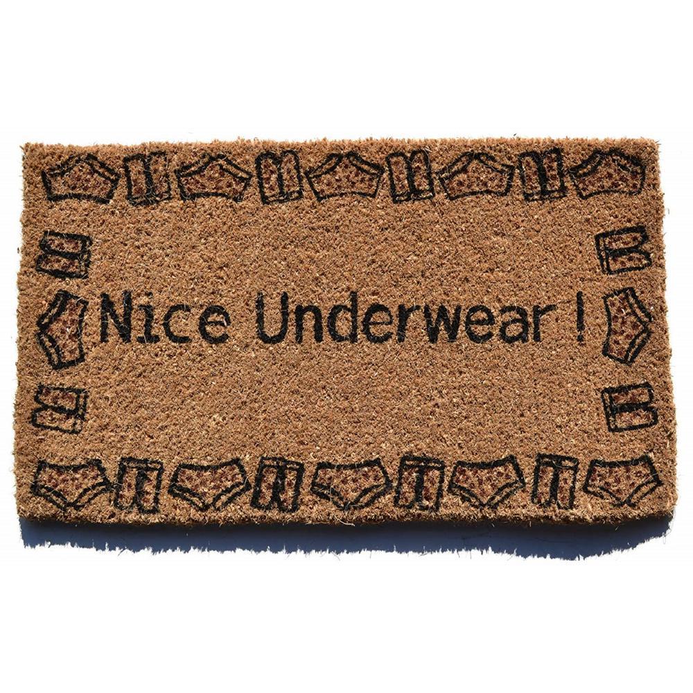 Basic Coir, Nice Underwear, 30 in. x 18 in. Coconut Husk Door Mat