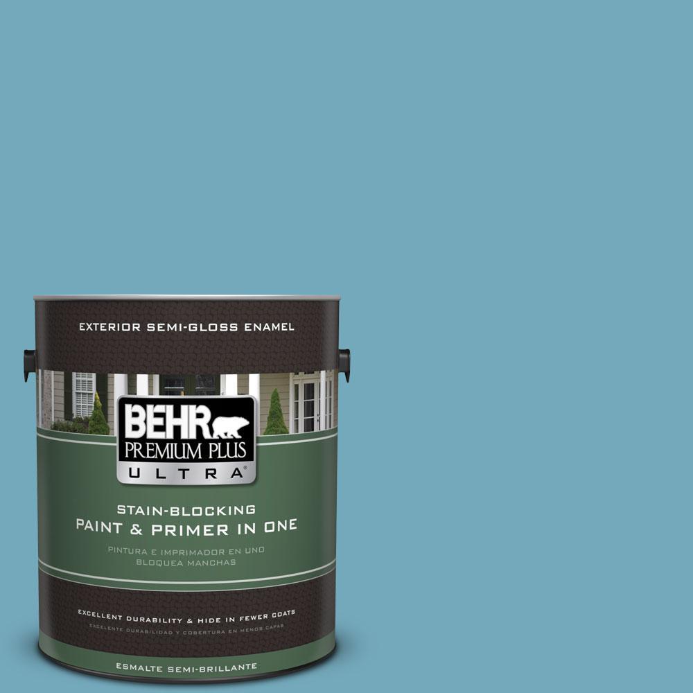 BEHR Premium Plus Ultra 1-gal. #S460-4 Snowboard Semi-Gloss Enamel Exterior Paint