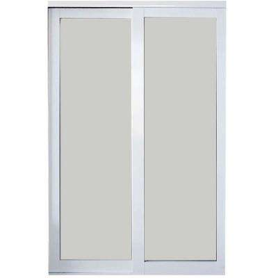 Eclipse Finish Mystique Glass Aluminum Interior Sliding Door