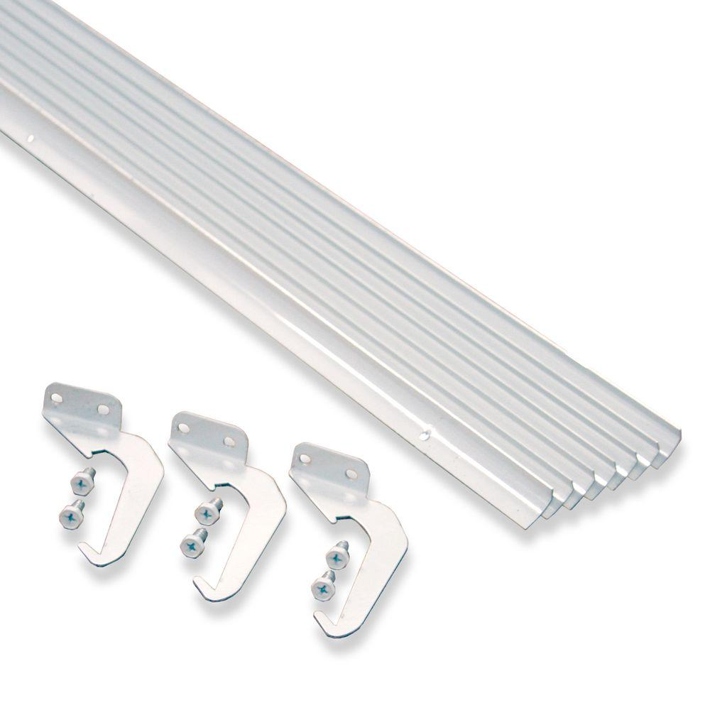 Rainhandler 5 Ft White Aluminum Gutter With Brackets Screws