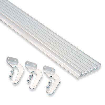 5 ft. White Aluminum Gutter with Brackets & Screws - Value Pack of 25 ft.