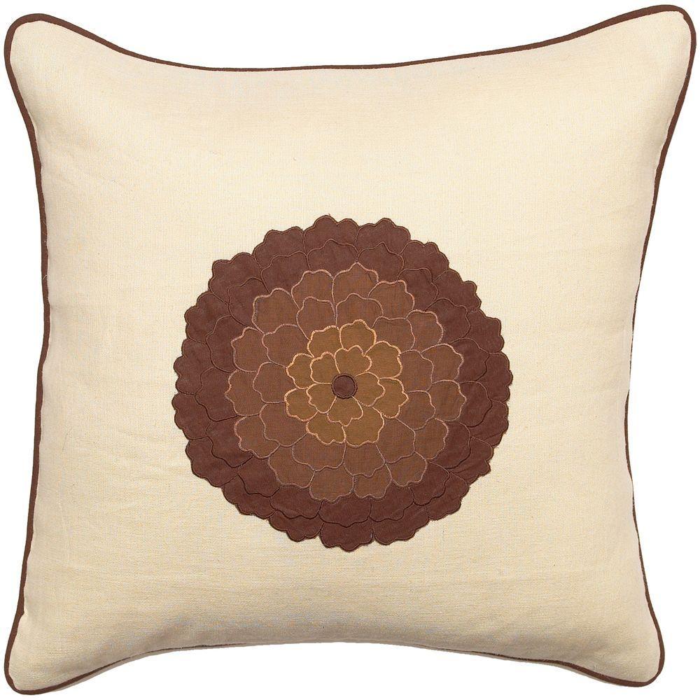PetalsA1 18 in. x 18 in. Decorative Down Pillow