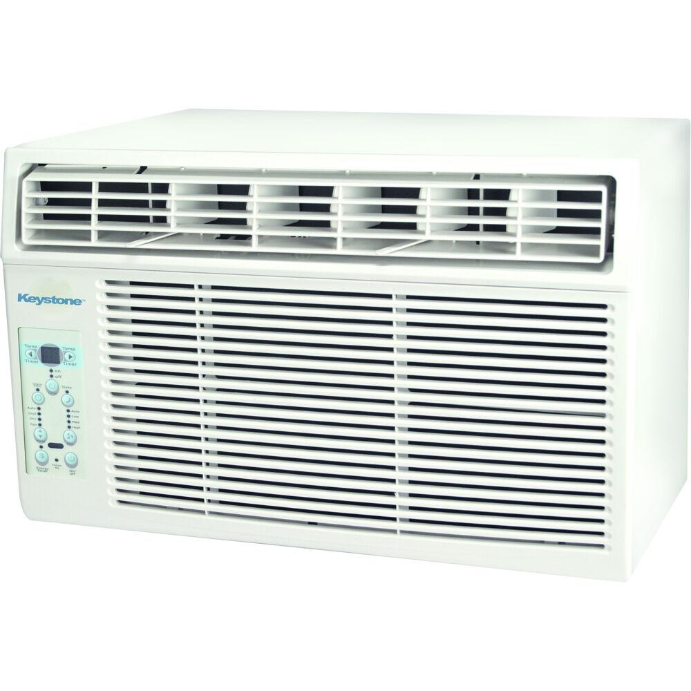 Keystone 6,000 BTU Window Mounted Air Conditioner with Remote Control in White
