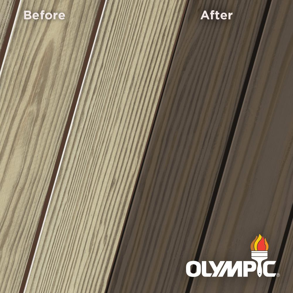 Olympic Elite 8 oz. Wenge Semi-Transparent Exterior Wood Stain and Sealant in One
