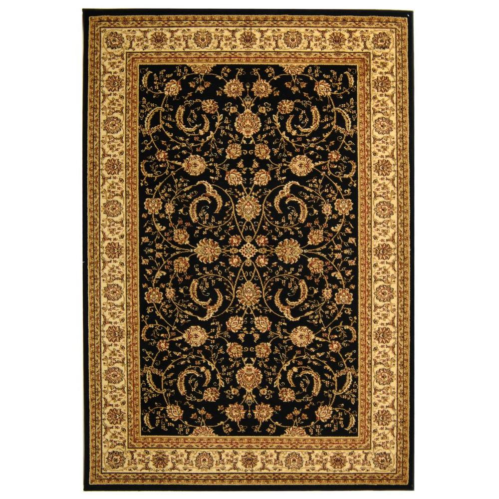 Lyndhurst Black/Ivory 8 ft. x 11 ft. Area Rug