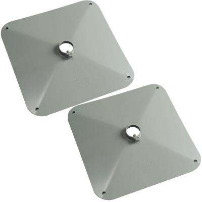 14 in. x 14 in. Square Muck Footpad (2-Pack)