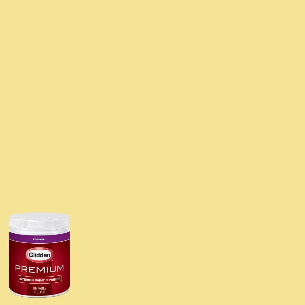 Glidden premium 8 oz hdgg03 meadow flower yellow for Eggshell yellow paint
