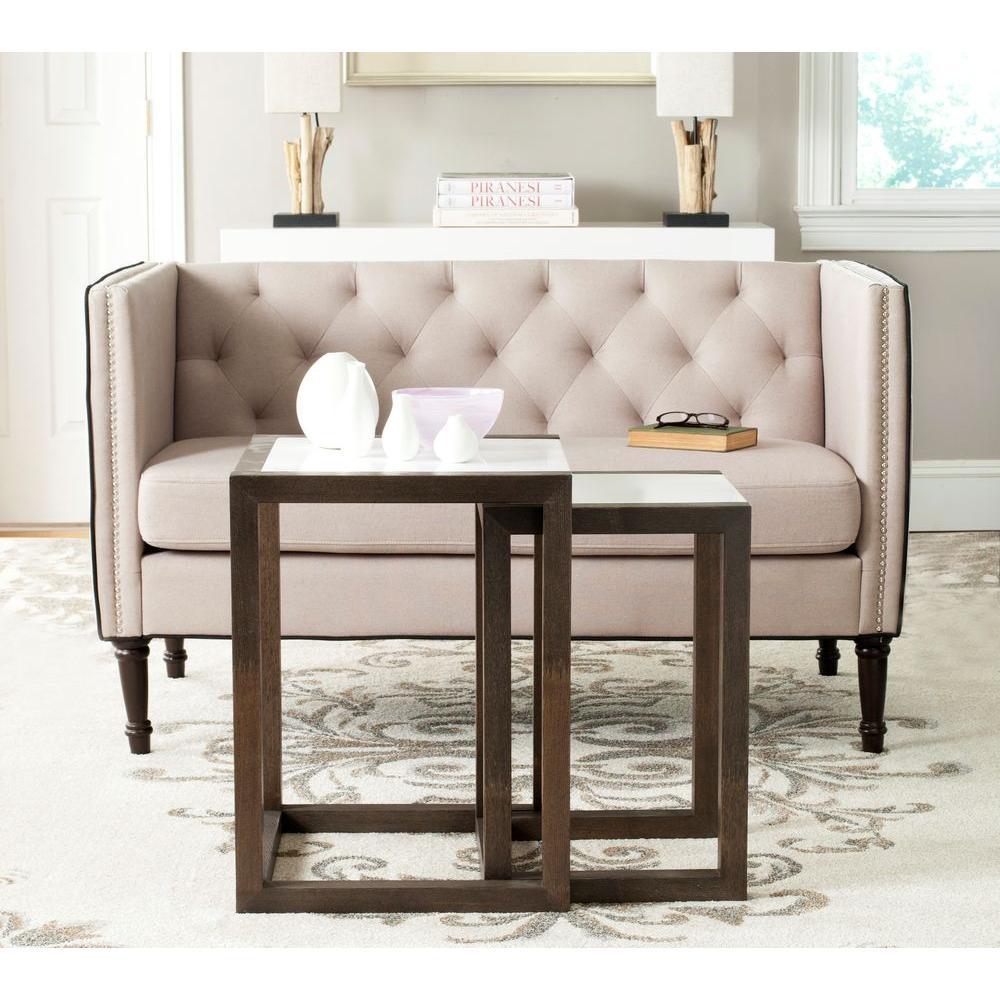 Safavieh Egan Dark Brown 2-Piece Nesting End Table by