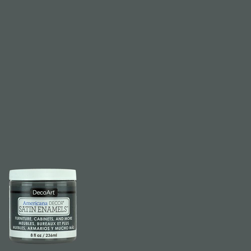 8 oz. Charcoal Grey Satin Enamel Paint