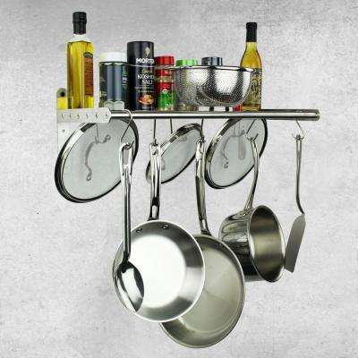 32 in. Silver Wall-Mounted Wall Shelf