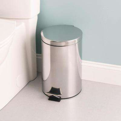 Polished 3.17 Gal. Stainless Steel Trash Can