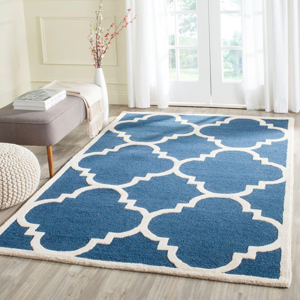 Safavieh Cambridge Navy Ivory 10 Ft X 14 Ft Area Rug