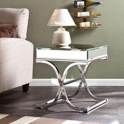 Alice Chrome Mirrored End Table