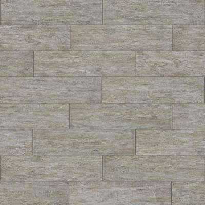 Pavilion Grey 6 in. x 24 in. Porcelain Floor and Wall Tile (15.58 sq. ft. / case)