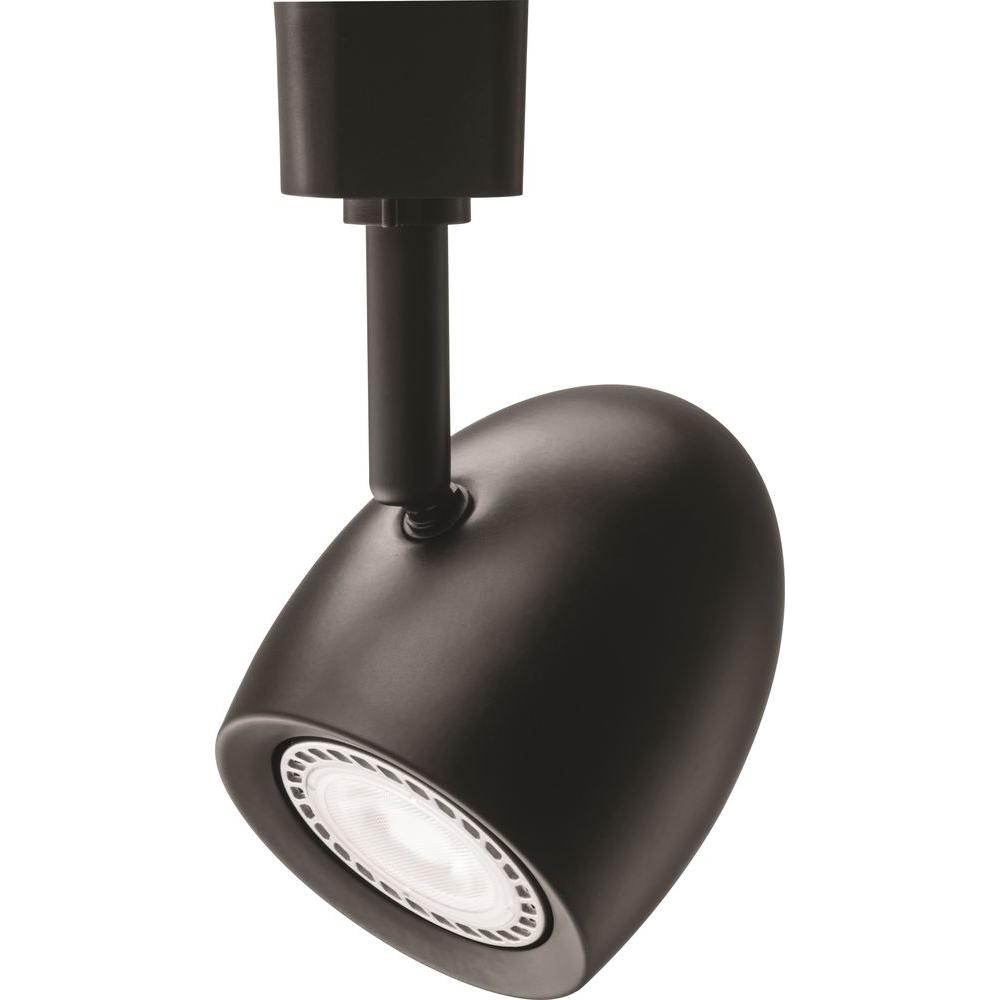 Lithonia Lighting Ostrich Egg 1Light Black LED Track Lighting Head