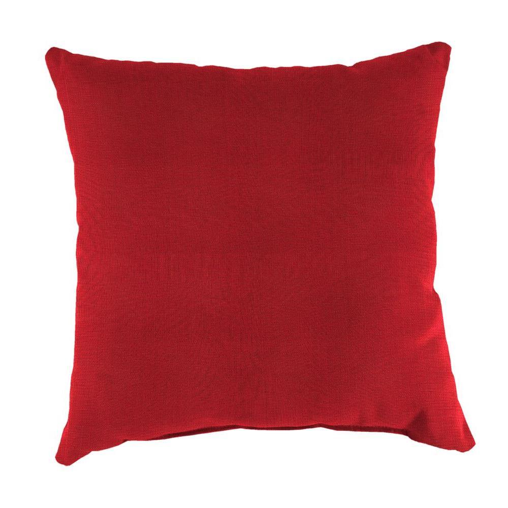 Jordan Sunbrella Spectrum Crimson Square Outdoor Throw Pi...