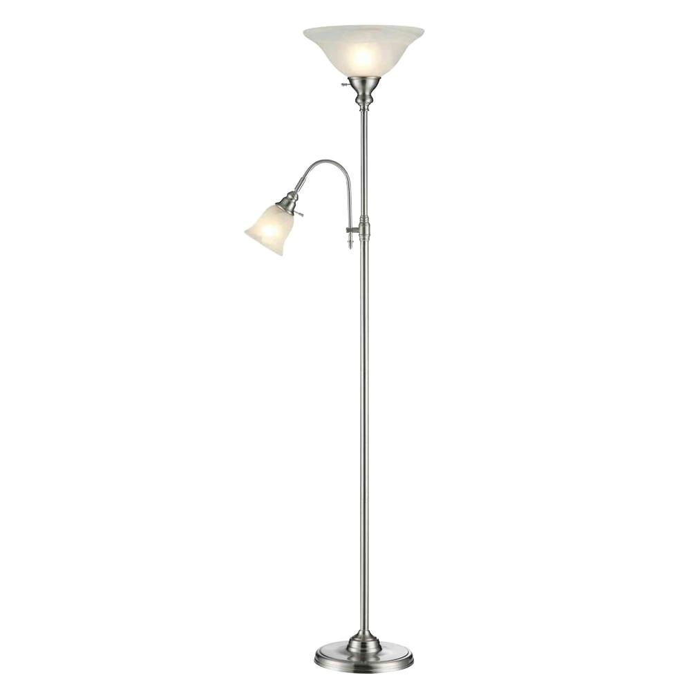 Hampton Bay Steel Floor Lamp with Light Non Title 20-DISCONTINUED