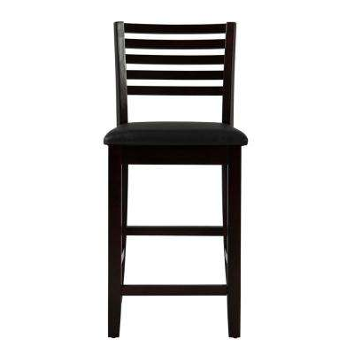 Triena 24 in. Rich Espresso Cushioned Bar Stool