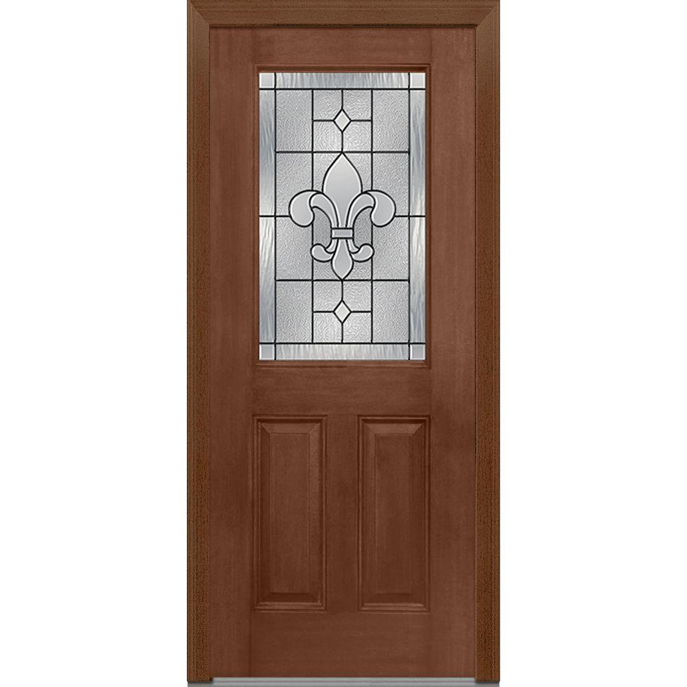 MMI Door 33.5 In. X 81.75 In. Carrollton Decorative Glass