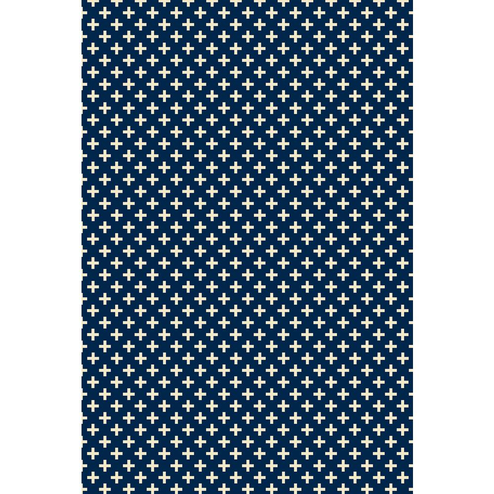 Elegant Cross Design 2ft x 3ft blue & white Indoor/Outdoor vinyl