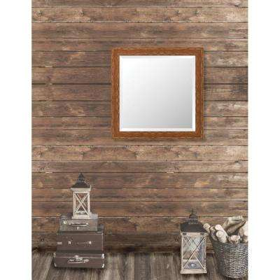 Remington 28.75 in. x 28.75 in. French Antique Wide Framed Bevel Mirror