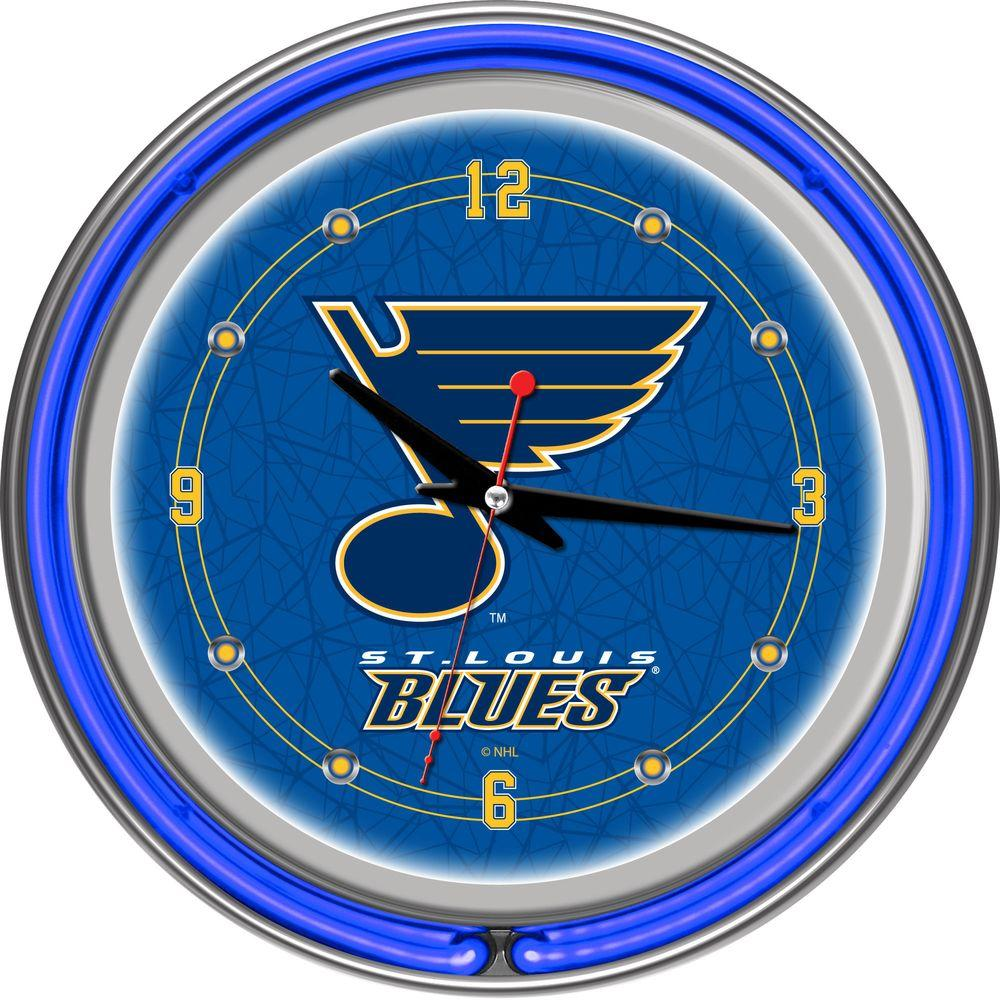 Trademark 14 in. St. Louis Blues NHL Neon Wall Clock
