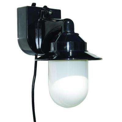 Black Outdoor Portable Black Wall Lantern with Suction Cup