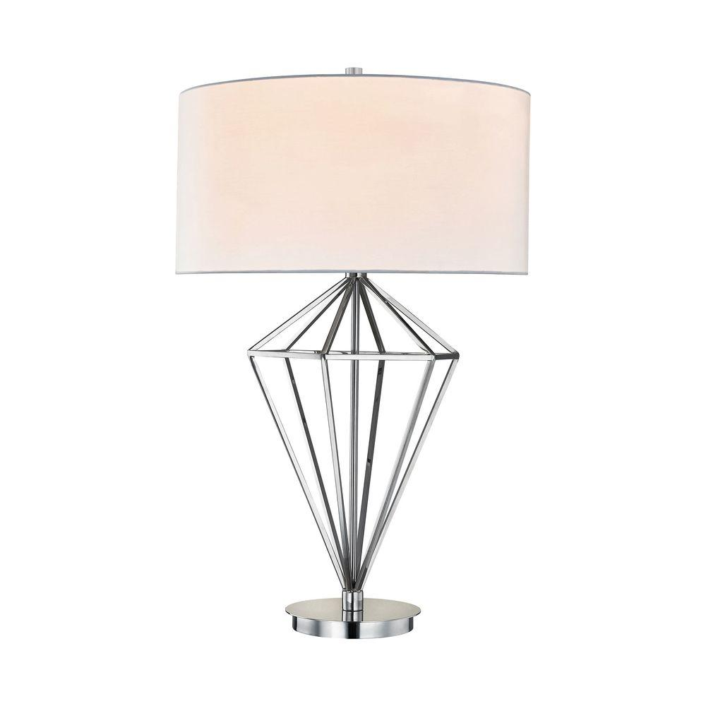 Titan lighting adele 32 in polished nickel table lamp tn 999315 polished nickel table lamp aloadofball
