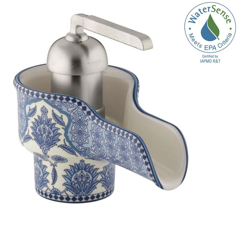 Marrakesh Single Hole Single Handle Low-Arc Water-Saving Bathroom Faucet in Biscuit
