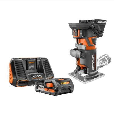 18-Volt OCTANE Cordless Brushless Compact Fixed Base Router with 18-Volt Lithium-Ion 2.0 Ah Battery Pack and Charger Kit