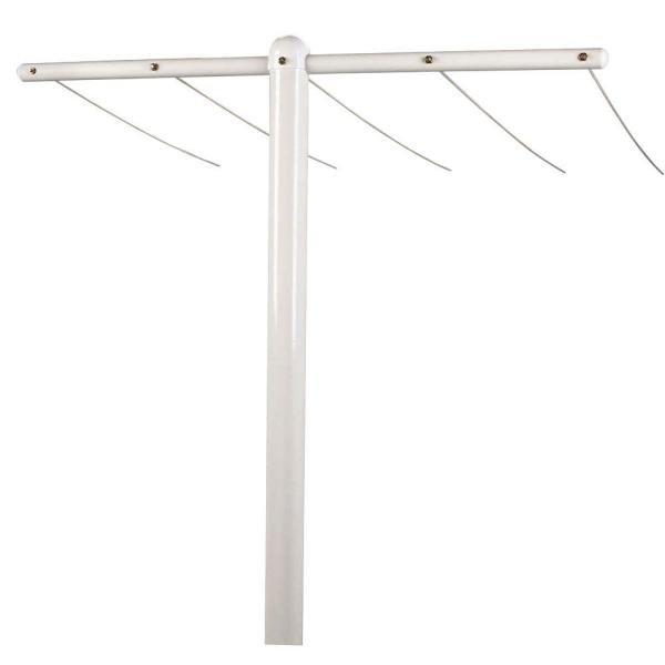 Steel White T-Assembly (3-Piece)