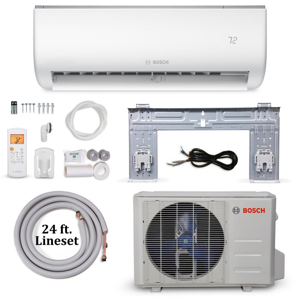 Bosch Climate 5000 Energy Star 9,000 BTU 0 75 Ton Ductless Mini Split Air  Conditioner and Heat Pump - 115-Volt/60 Hz