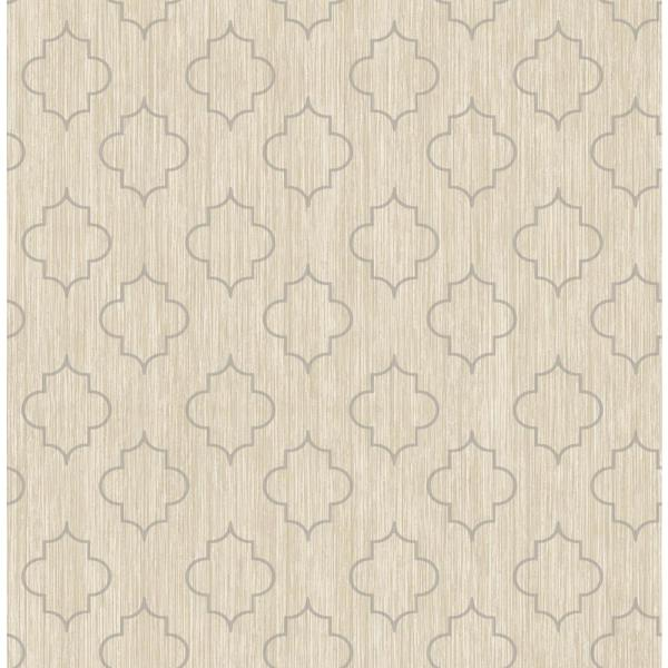 Seabrook Designs Agate Metallic Gold and Greige Medallion Wallpaper GT20708
