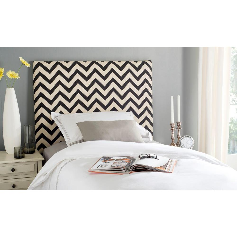 Safavieh Ziggy Black And White Twin Headboard Mcr4038a