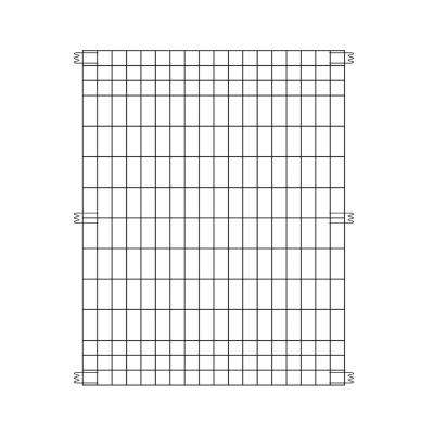 44 in. H x 36 in. W Steel Multi-Purpose Black Fence Panel