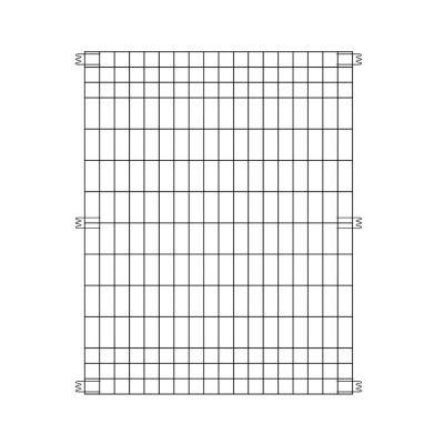 44 in. H x 36 in. W Steel No Dig Multi-Purpose Fence Panel (6-Pack)
