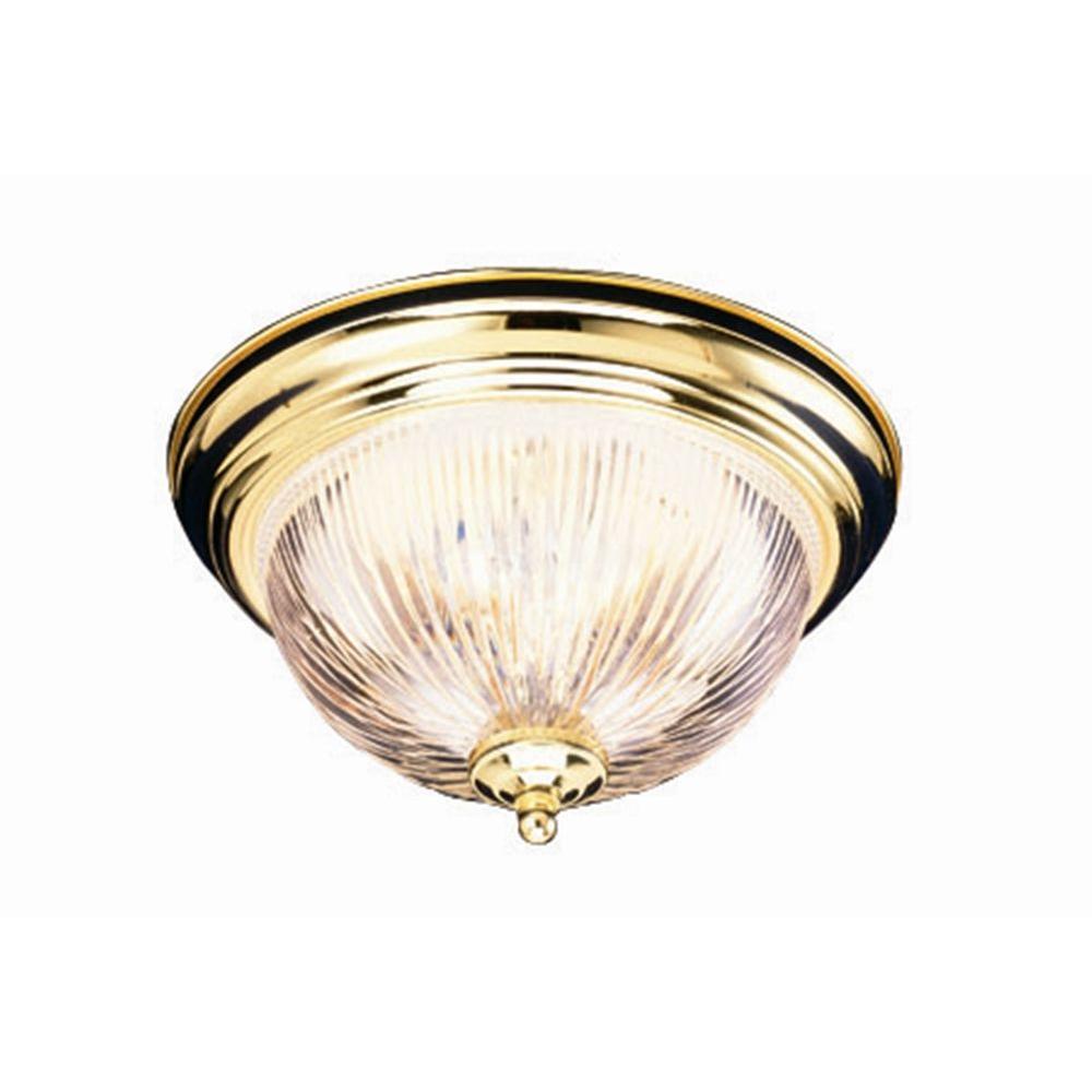 Millbridge 2-Light Polished Brass Ceiling Mount Light