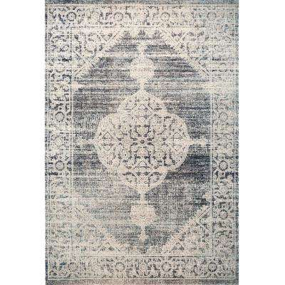 Patio Sofia Navy Blue 7 ft. 9 in. x 10 ft. 2 in. Indoor/Outdoor Area Rug