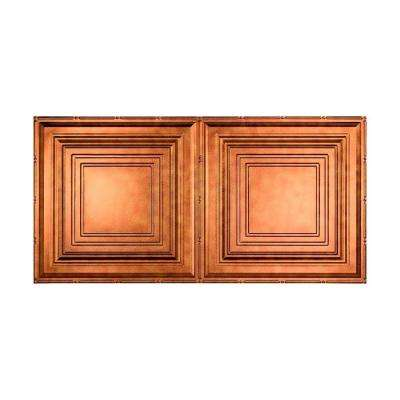 Traditional 3 - 2 ft. x 4 ft. Glue-up Ceiling Tile in Antique Bronze
