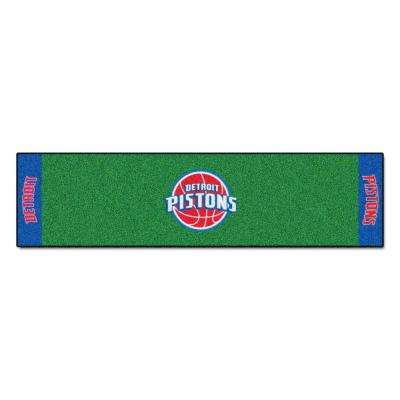 NBA Detroit Pistons 1 ft. 6 in. x 6 ft. Indoor 1-Hole Golf Practice Putting Green