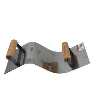 Stainless Steel Curb and Gutter Tool, 2 in.R Curb, 3 in.R Gutter - Wood Handle